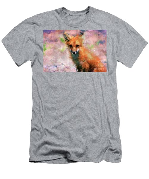 Men's T-Shirt (Athletic Fit) featuring the digital art Red Fox  by Claire Bull