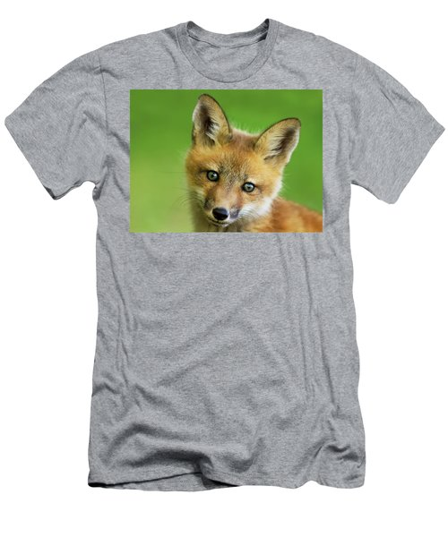 Red Fox Pup Men's T-Shirt (Athletic Fit)
