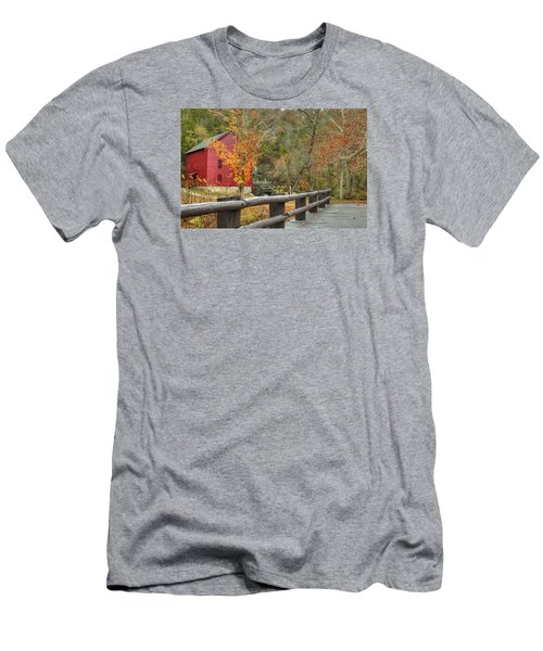Red Grist Mill Front Entrance Men's T-Shirt (Athletic Fit)