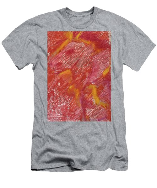 Red Monoprint One Men's T-Shirt (Athletic Fit)