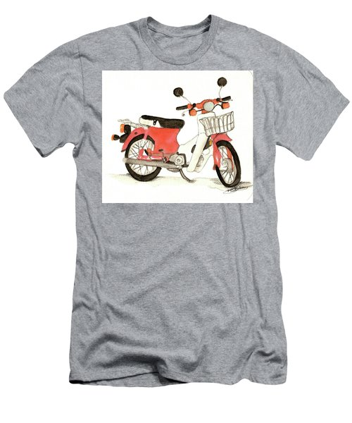 Red Motor Bike Men's T-Shirt (Athletic Fit)
