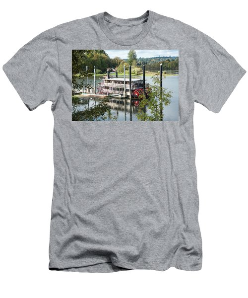 Red Paddle Wheel Men's T-Shirt (Athletic Fit)