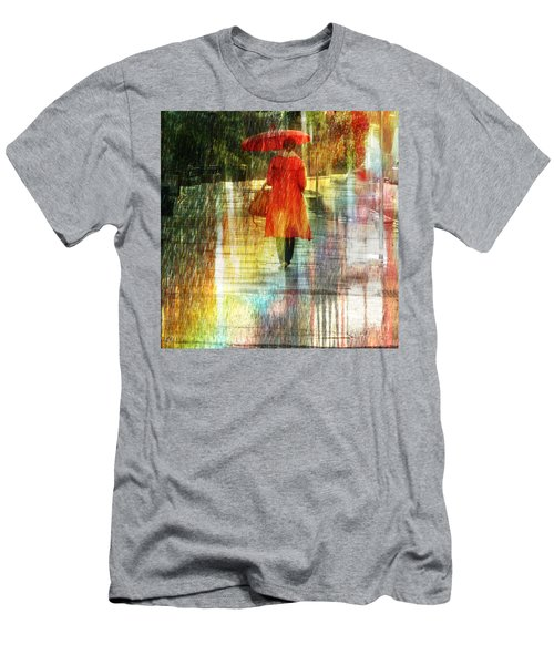 Red Rain Day Men's T-Shirt (Athletic Fit)