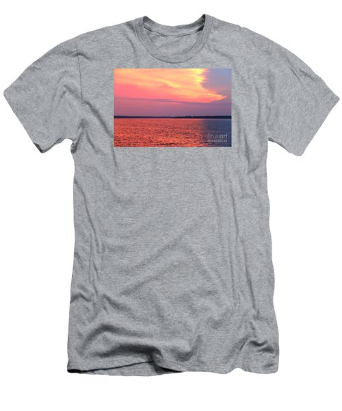Men's T-Shirt (Slim Fit) featuring the photograph Red Reflection  by Yumi Johnson