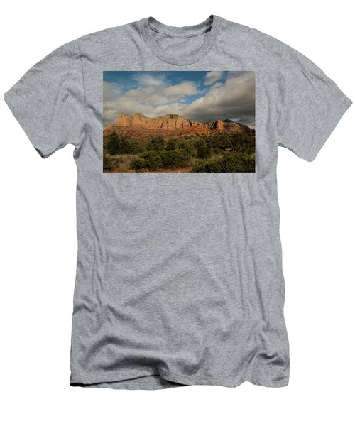 Men's T-Shirt (Slim Fit) featuring the photograph Red Rock Country Sedona Arizona 3 by David Haskett