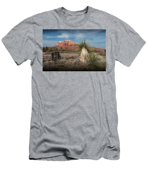 Men's T-Shirt (Slim Fit) featuring the photograph Red Rock Formation In Sedona Arizona by Randall Nyhof