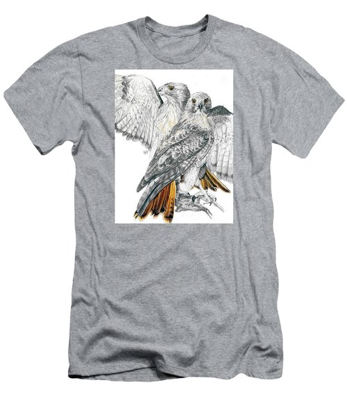 Red-tailed Hawk Men's T-Shirt (Slim Fit) by Barbara Keith