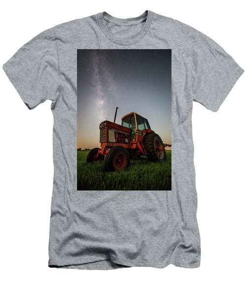 Men's T-Shirt (Athletic Fit) featuring the photograph Red Tractor by Aaron J Groen
