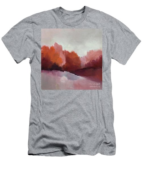 Men's T-Shirt (Athletic Fit) featuring the painting Red Valley by Michelle Abrams