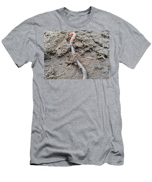 Men's T-Shirt (Athletic Fit) featuring the photograph Red Wiggler by Robert Knight