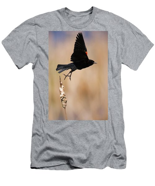 Red-winged Takeoff Men's T-Shirt (Athletic Fit)