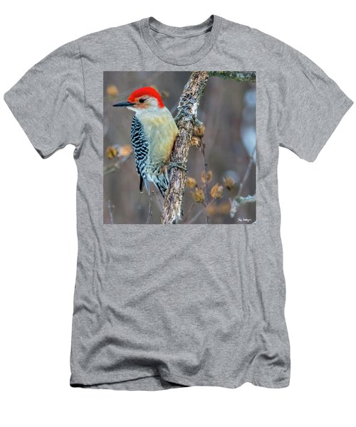 Men's T-Shirt (Slim Fit) featuring the photograph Redbellied Woodpecker by Skip Tribby