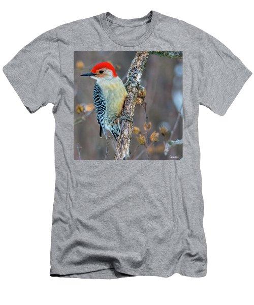 Redbellied Woodpecker Men's T-Shirt (Slim Fit) by Skip Tribby