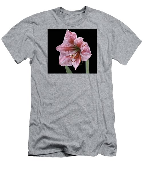 Men's T-Shirt (Athletic Fit) featuring the photograph Reddish Pink Lily by Ken Barrett