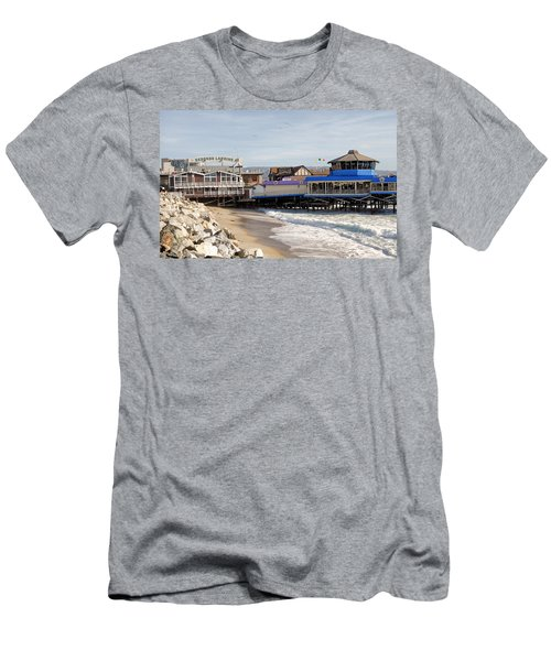 Redondo Beach Pier Shopping Men's T-Shirt (Athletic Fit)