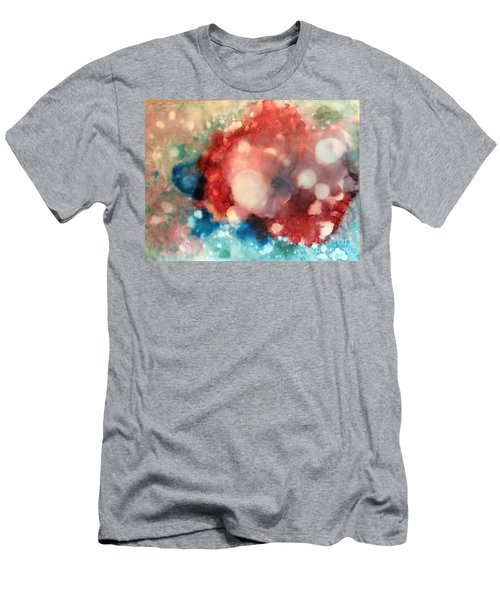 Men's T-Shirt (Athletic Fit) featuring the painting Reflecting by Denise Tomasura