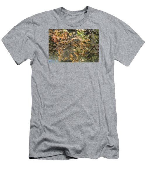 Men's T-Shirt (Slim Fit) featuring the photograph Reflecting Gold by Linda Geiger