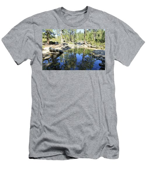 Men's T-Shirt (Athletic Fit) featuring the photograph Reflecting Pond by Sean Sarsfield