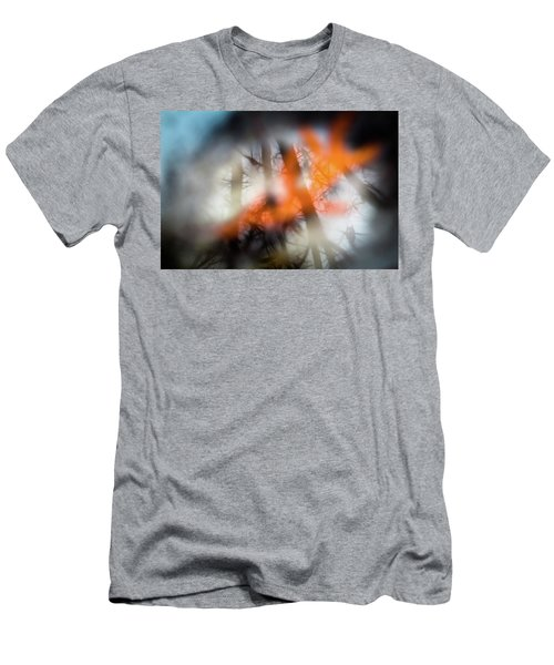 Reflection Of Trees Over An Oak Leaf Encased In Water And Ice Men's T-Shirt (Athletic Fit)