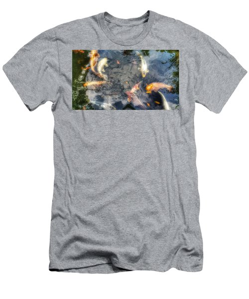 Reflections And Fish 3 Men's T-Shirt (Slim Fit) by Isabella F Abbie Shores FRSA