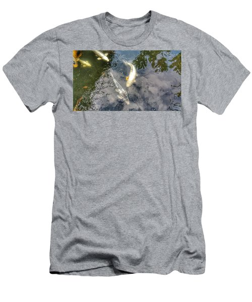 Reflections And Fish 9 Men's T-Shirt (Slim Fit) by Isabella F Abbie Shores FRSA