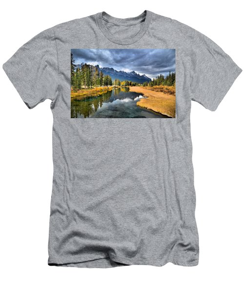 Reflections In Canmore Men's T-Shirt (Athletic Fit)