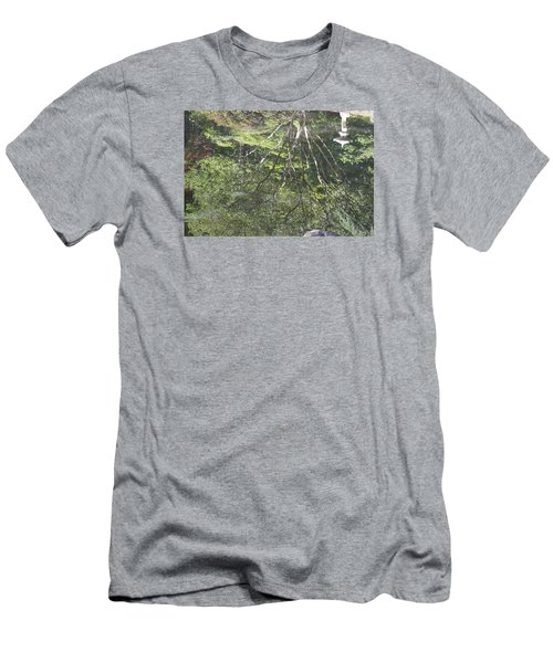 Men's T-Shirt (Slim Fit) featuring the photograph Reflections In The Japanese Gardens by Linda Geiger