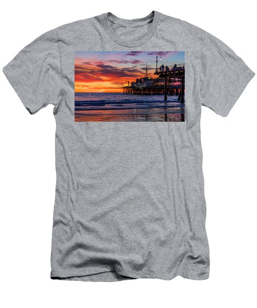 Reflections Of The Pier Men's T-Shirt (Athletic Fit)