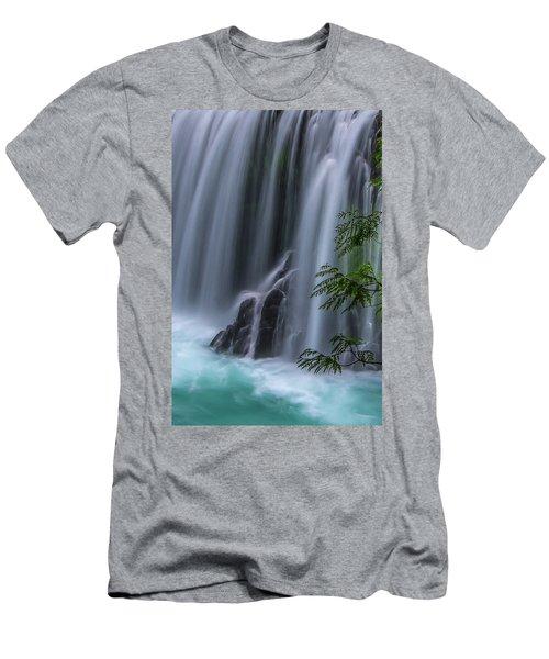 Refreshing Waterfall Men's T-Shirt (Slim Fit) by Ulrich Burkhalter