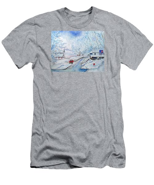 Refuge From The Storm Men's T-Shirt (Slim Fit) by Christine Lathrop