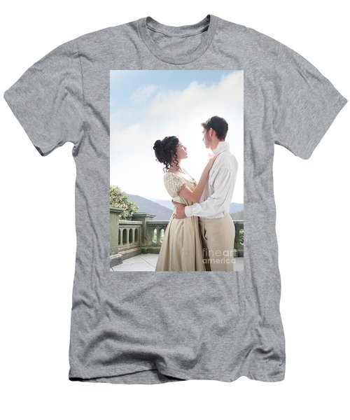 Regency Couple Embracing On The Terrace Men's T-Shirt (Athletic Fit)