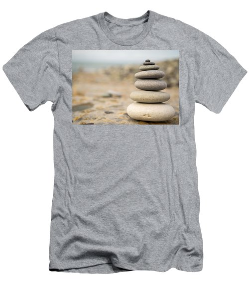 Men's T-Shirt (Slim Fit) featuring the photograph Relaxation Stones by John Williams