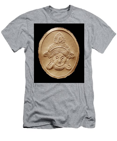 Relief Drawing Of Goddess Durga Devi  Men's T-Shirt (Slim Fit) by Suhas Tavkar