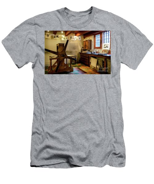 Men's T-Shirt (Slim Fit) featuring the photograph Rembrandt's Former Graphic Workshop In Amsterdam by RicardMN Photography