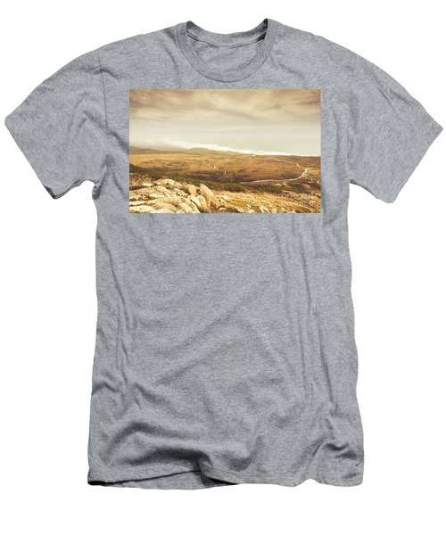 Remote Roads And Foggy Coastlines Men's T-Shirt (Athletic Fit)