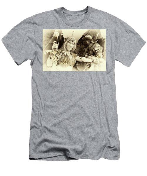 Renaissance Festival Barbarians Men's T-Shirt (Slim Fit) by Bob Christopher
