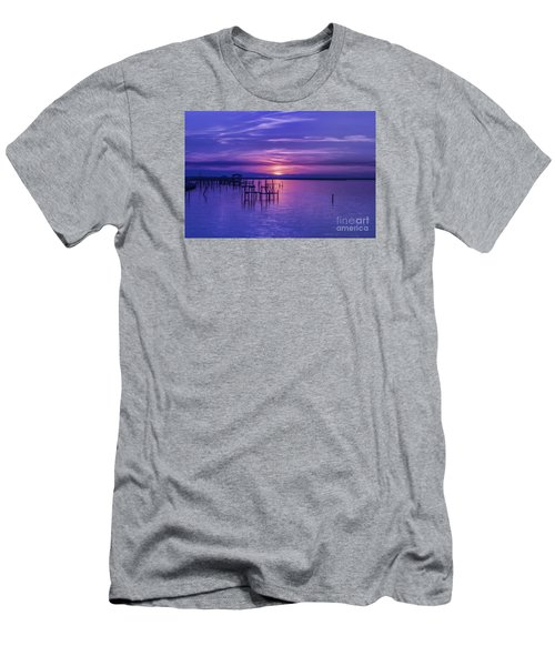 Rest Well World Sunset Men's T-Shirt (Athletic Fit)