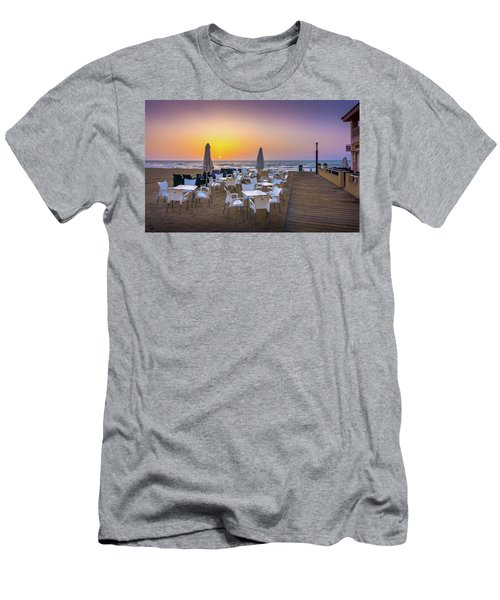 Restaurant Sunrise, Spain. Men's T-Shirt (Athletic Fit)