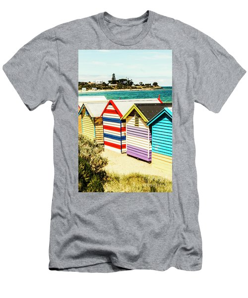 Retro Beach Boxes Men's T-Shirt (Athletic Fit)