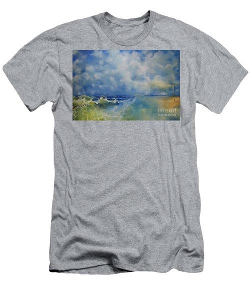 Retrospection Seascape Men's T-Shirt (Athletic Fit)
