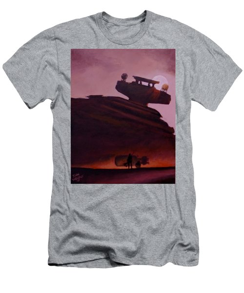 Rey Looks On Men's T-Shirt (Slim Fit) by Dan Wagner