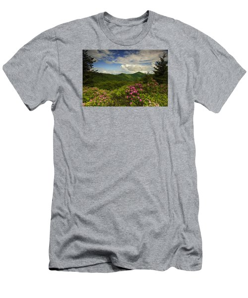 Rhododendrons On The Blue Ridge Parkway Men's T-Shirt (Athletic Fit)