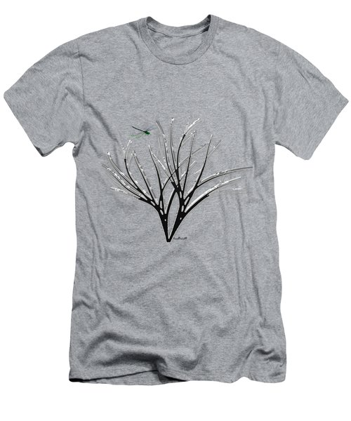 Ribbon Grass Men's T-Shirt (Slim Fit) by Asok Mukhopadhyay