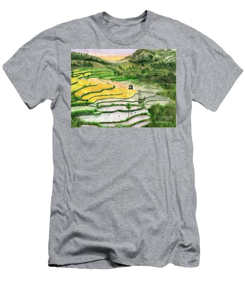 Ricefield Terrace II Men's T-Shirt (Slim Fit) by Melly Terpening