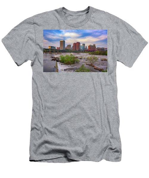 Men's T-Shirt (Slim Fit) featuring the photograph Richmond Skyline by Rick Berk