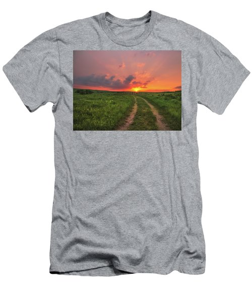 Men's T-Shirt (Athletic Fit) featuring the photograph Ride Off Into The Sunset by Darren White