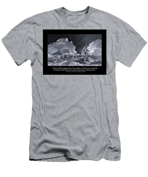 Riders In The Sky Bw Men's T-Shirt (Athletic Fit)