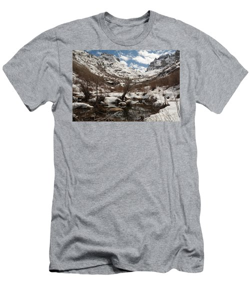 Right Fork Canyon Men's T-Shirt (Slim Fit) by Jenessa Rahn