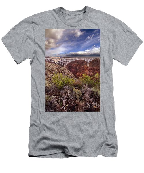 Men's T-Shirt (Slim Fit) featuring the photograph Rio Grande Gorge Bridge by Jill Battaglia