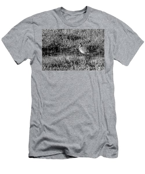 Camouflage, Black And White Men's T-Shirt (Athletic Fit)